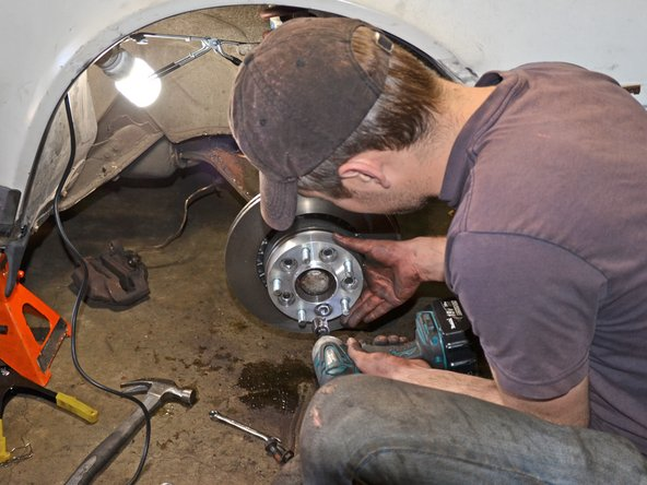 Tighten the lug nuts to 85 ft-lbs with a torque wrench or impact gun.