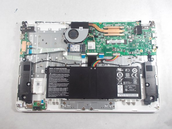 The Solid State Drive is the blue chip locate right beneath the fan.