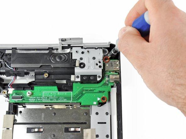 Image 1/2: Remove the S-Video board.