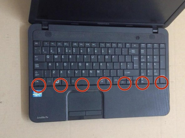 To remove the Keyboard you must open 7x locking clips.