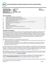 Product Safety, EMC and Environmental Datasheet