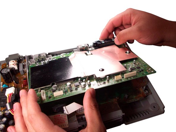 Lift the logic board out of the PlayStation and replace with a new logic board.