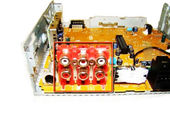 To remove the Audio In/Audio Out inputs on the circuit board please refer to the iFixit soldering guide to assist you.