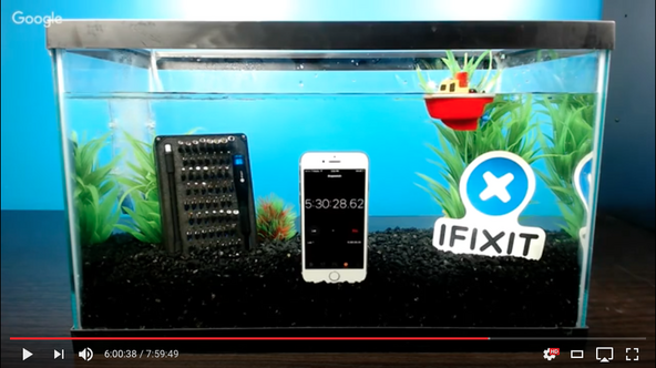 iPhone 7 water resistance test in a fish tank