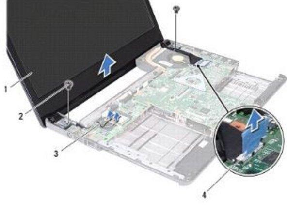 Dell Inspiron 14 N4030 Reemplazo del ensamblaje de la pantalla