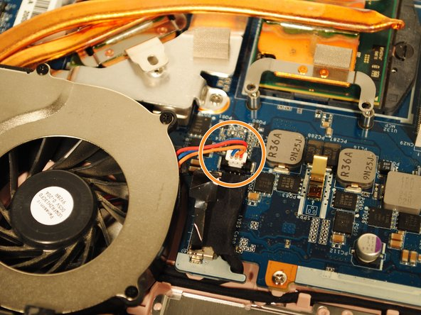 Unplug the wires connecting the fan and the motherboard.