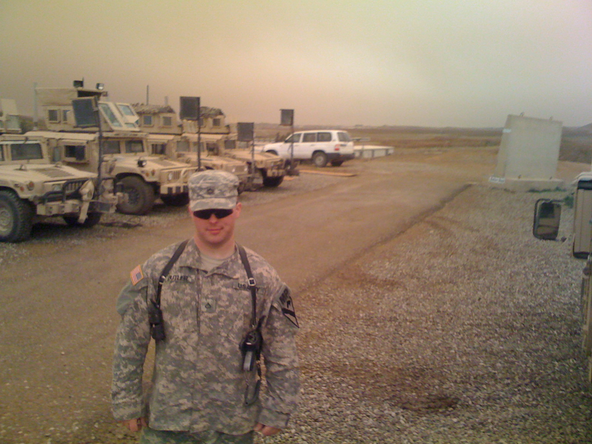 Ryan Butler in the US Army before he became a fixer
