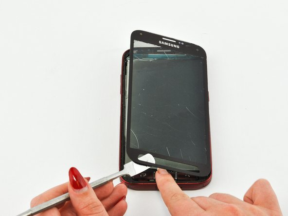 Because it is a water-resistant phone, the screen cannot be taken apart without breaking.