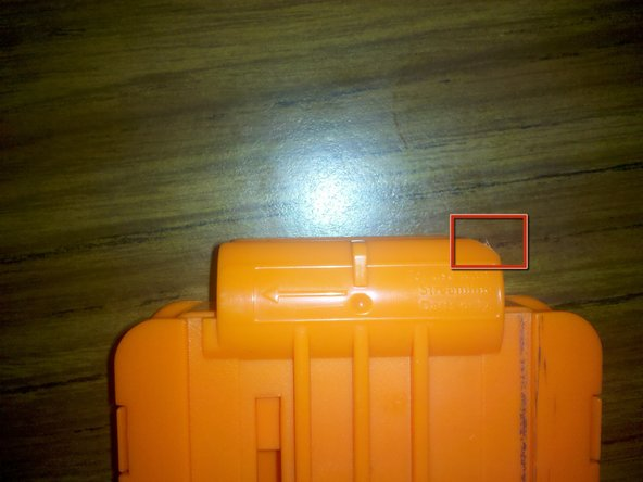 Due to a tiny mistake in my batch of kits, the front of the breech will block the top of the magazine from inserting all the way. Check the fit in your blaster before you do this step.
