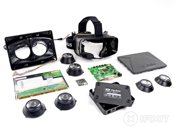 The Oculus Rift Development Kit Repairability Score: 9 out of 10 (10 is best)