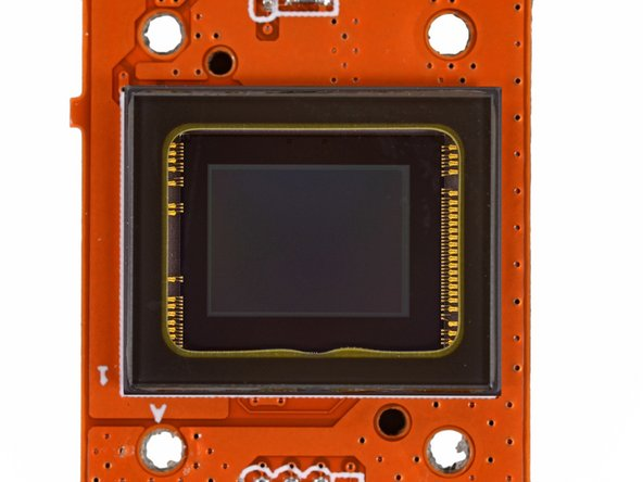 Image 1/3: At the heart of the GoPro lies a [http://www.sony.net/Products/SC-HP/cx_news/vol70/pdf/imx117cqt.pdf|Sony IMX117] image sensor.