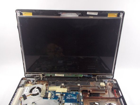 Refer to Toshiba Satellite screen replacement guide to remove screens outer shell.