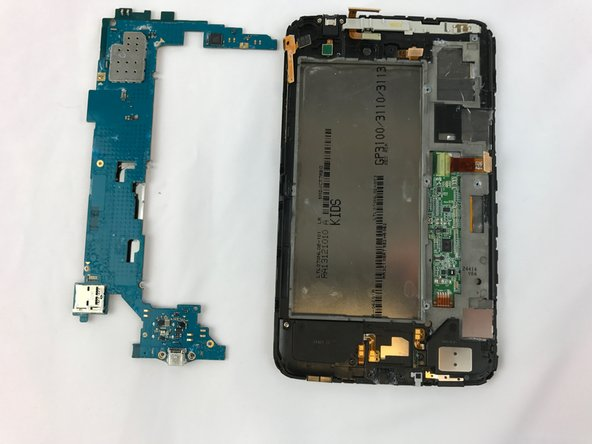 Remove the mother board from the device by carefully lifting it out.