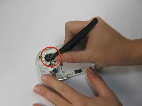 Pull the speaker off the system by using the tweezers. Perform this step with caution.