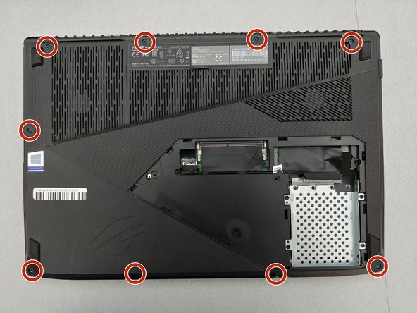 Remove the 9 screws around the perimeter of the back case with a Phillips #1 screwdriver.