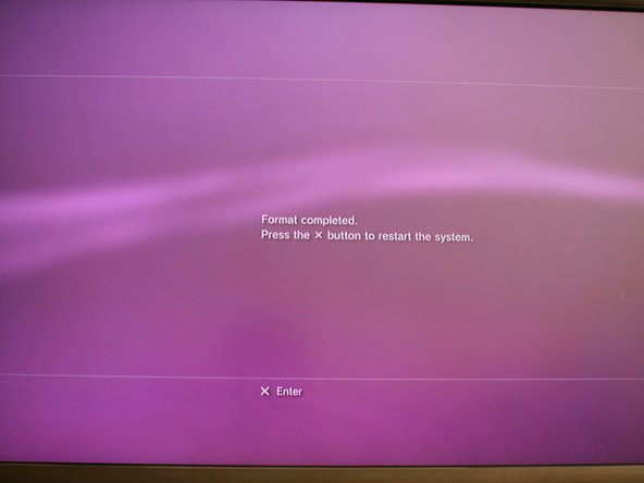 When you power up, the PS3 will have to format the new hard drive.