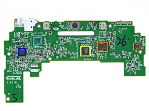 Image 1/1: The backside of the GamePad's motherboard: