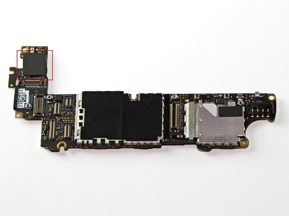 Remove the adhesive protection on the Wi-Fi/bluetooth chip.