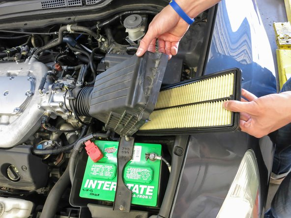 Car maintenance: changing the air filter