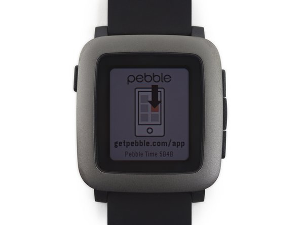The Pebble Time features a color e-paper display.