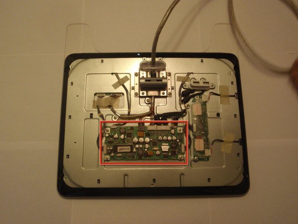 Now that the circuitry is exposed the boards can be seen and replaced.