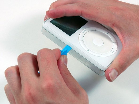 Opening the iPod can be challenging. Don't get discouraged if it takes a few tries before the iPod is opened.