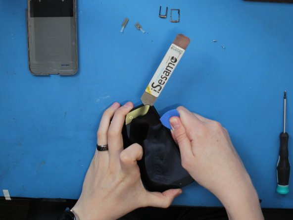 Remember, if it's hard to separate the adhesive, apply more heat. You do can each side individually. No need to heat the middle, there is no adhesive there.