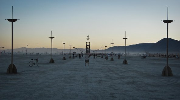 Entrance to Burning Man in Black Rock City, Nevada