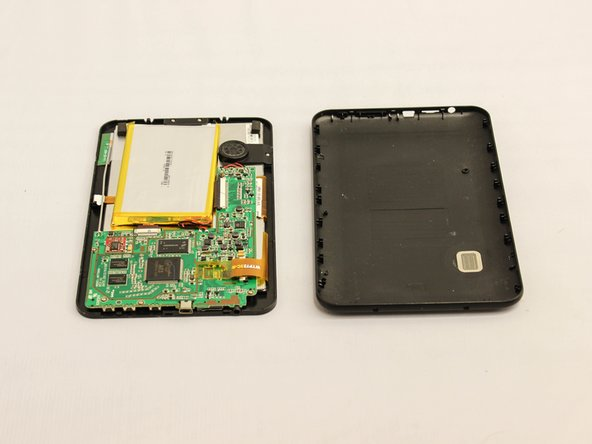 The device is now free from the plastic casing.