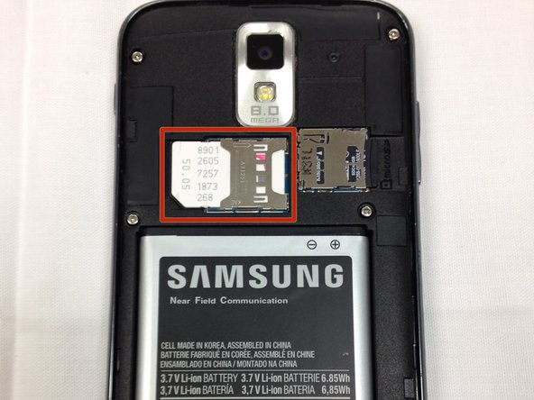 Samsung Galaxy S II T989 SIM Card Replacement