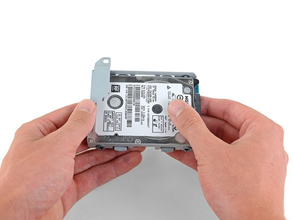 Remove the hard drive from the hard drive tray.