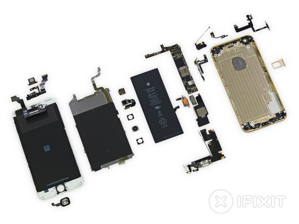 Image 1/2: Continuing the trend from the iPhone 5 series, the display assembly comes out of the phone first, simplifying screen repairs.