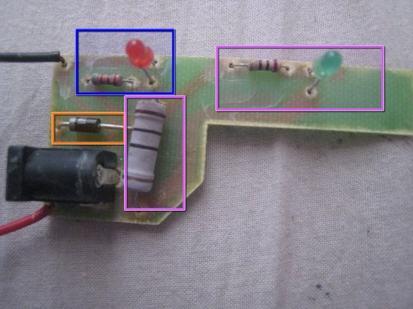 A diode to protect against reverse current.