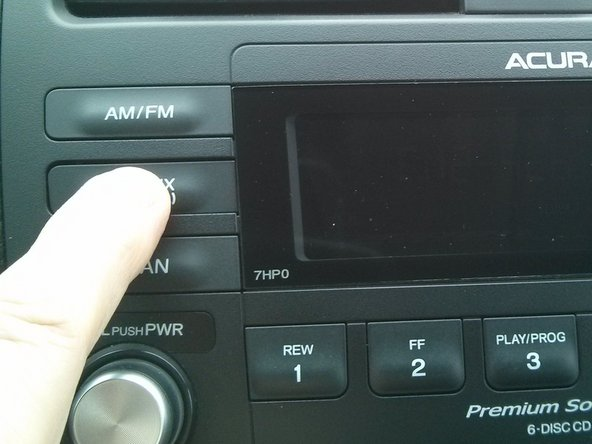 Turning off the center dashboard displays