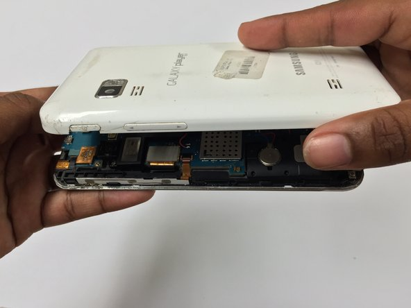 Take the back housing cover off of the device.