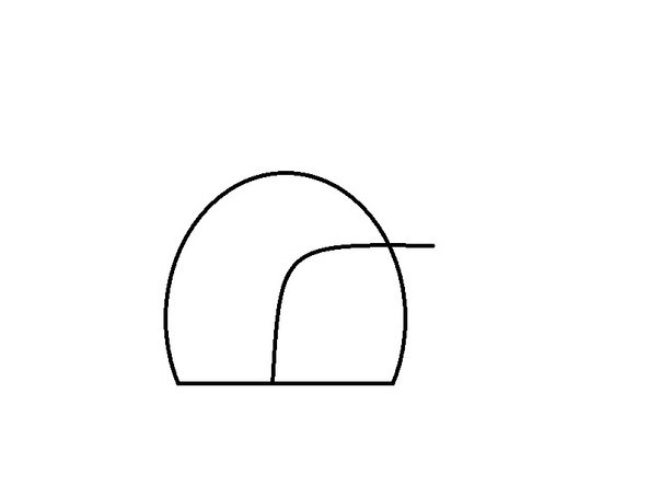 Now, click on the center of the penguin and complete the curve, defining the outline of your belly.