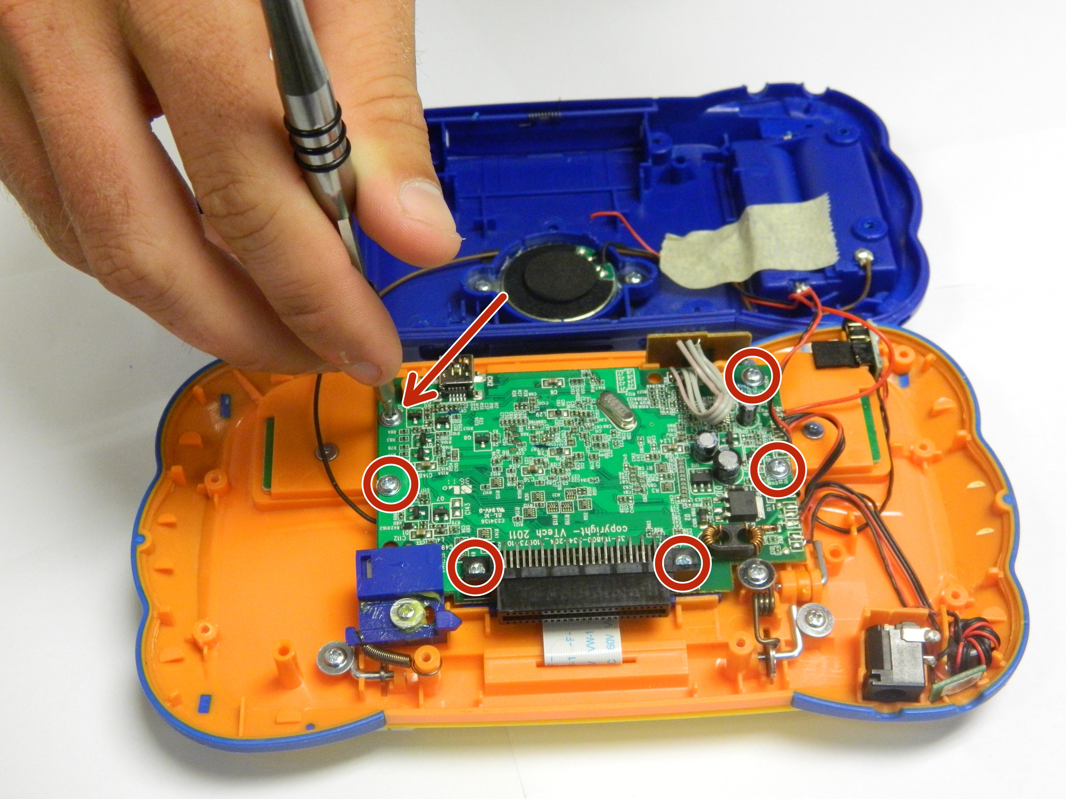 Disassembling Vtech Mobigo Touch Learning System Keyboard Ifixit Circuit Board Images Repair Guide