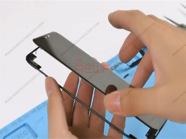 Apply the specialized glue to the bezel. Then apply pressure to fit the OLED Screen Assembly with the bezel.