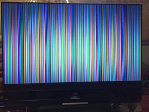 SOLVED: Vertical Lines JVC HD-58S998 TV No Picture
