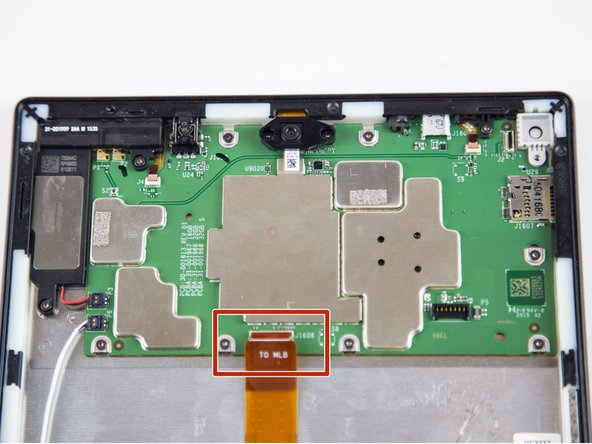 Lift the ZIF connector up to disconnect from the motherboard.