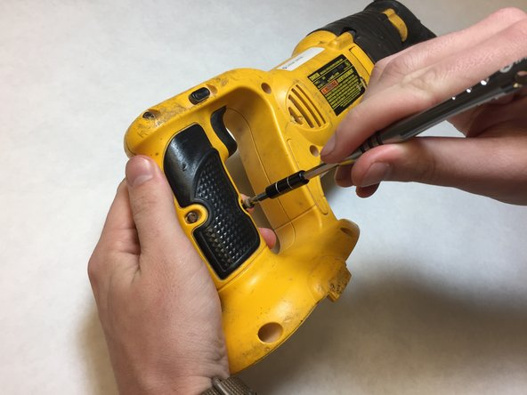 Insure power source is removed from tool.