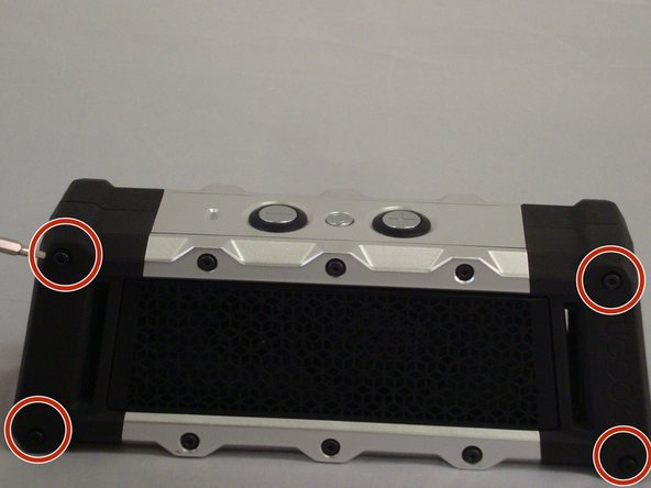 Image 1/3: Using the h1.5 screwdriver and remove remaining six 5.79mm screws on the front of the speaker.