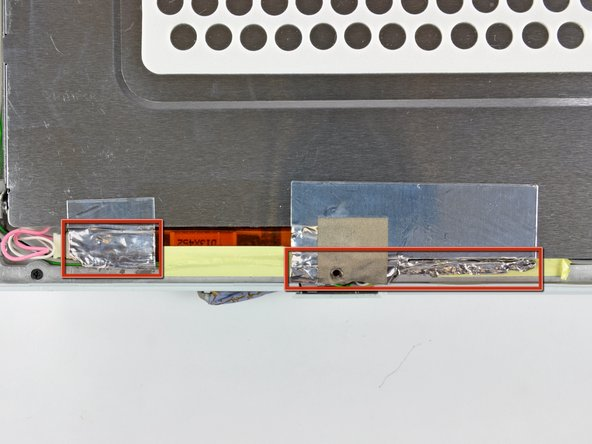 Image 1/1: It is not necessary to peel the tape off the thin steel LCD cover.