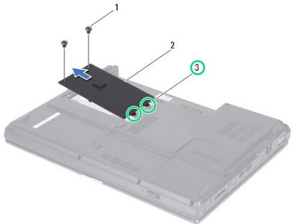 Align the tabs on the hard-drive cover with the slots on the computer base and snap the hard-drive cover into place.