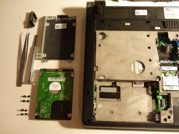 If you had trouble removing the drive, and you went through to step 8, then the parts remaining  will be in picture 2