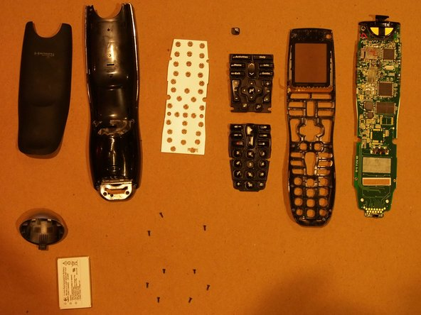 Here are all the parts the the Logitech Harmony One remote
