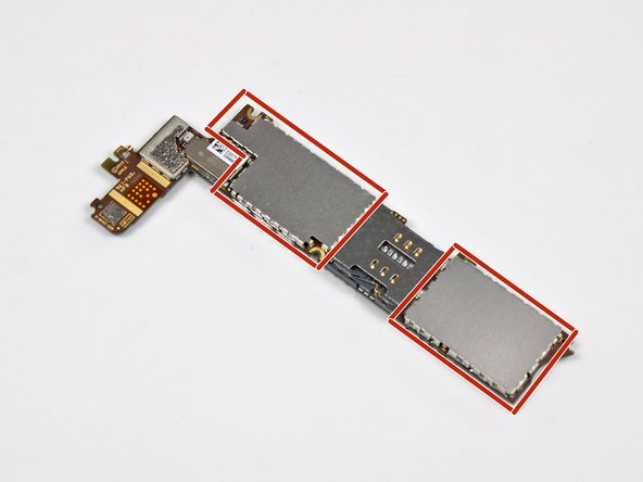 If you have an iPhone 4 or earlier, you can remove the EMI shields for more thorough cleaning of the chips underneath. iPhone 5 and later models do not have removable EMI shields. If you have a newer iPhone and believe there is damage under the shields, you may need to consult a repair professional.