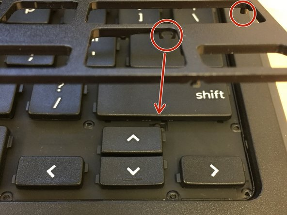 The next step will show a video on how to install the frame back onto the keyboard.