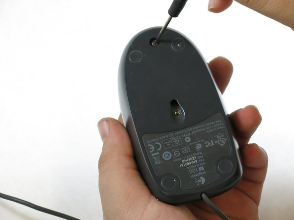 Use a Phillips #0 screwdriver to remove the 10mm screws on the bottom of the mouse.