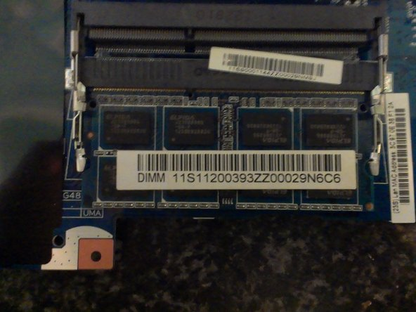 The Memory slots are now as exposed as possible so it's time to install the New Memory Modules.